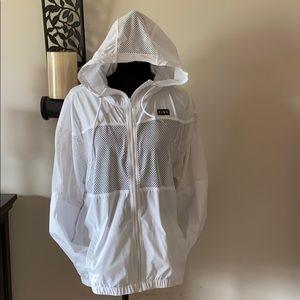 White anorak mesh jacket